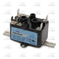AllTek Fan Relay, Totally Enclosed,  Isolated Contacts (SPNO/SPNC)