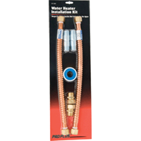 """Proplus Pro Plus Water Heater Connector Kit7/8"""" OD x 3/4"""" MIP x 18"""" Water Heater Connect Kit"""