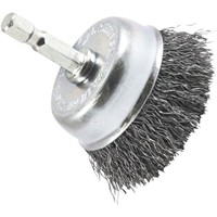 Forney Industries Crimped Wire Cup Drill-Mounted Wire Brush