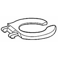 Bemis/Mayfair Commercial Elongated Open Front Toilet Seat