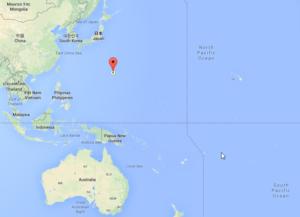 Localização da Fossa das Marianas