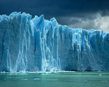 Glaciar visto de perto