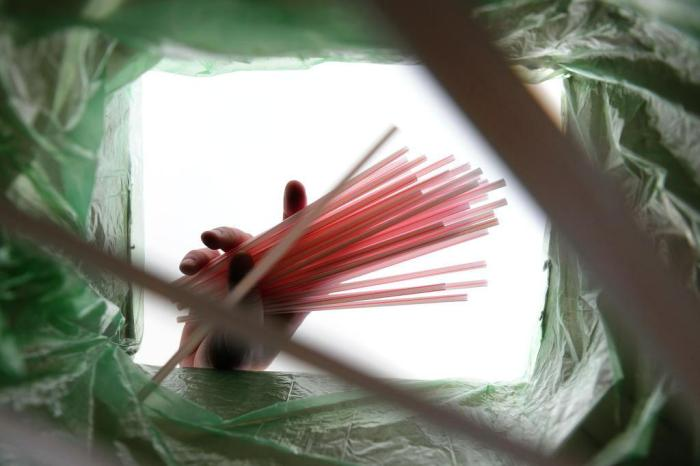 Resultado de imagem para sacolas plásticas e canudos