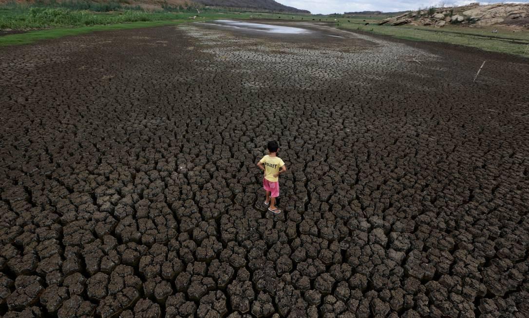 Reservatório do Boqueirão em Campina Grande secou no início do ano passado Foto Ueslei Marcelino - Agência O Globo