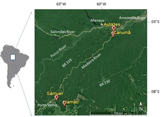 Localização das Arvores