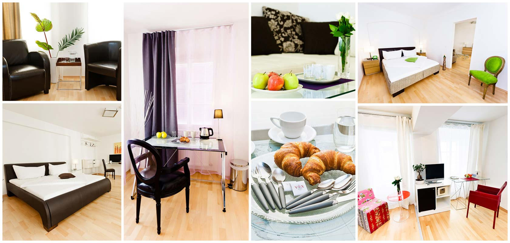 Vox Apartment Hotel in Wien Leopoldstadt Collage
