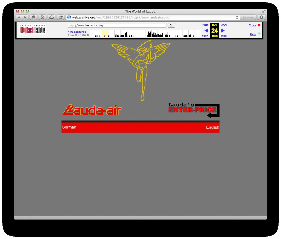 Enter Price. Das erste Buchungstool auf der Lauda Air Website aus dem Jahre 1997 #online #buchungstool