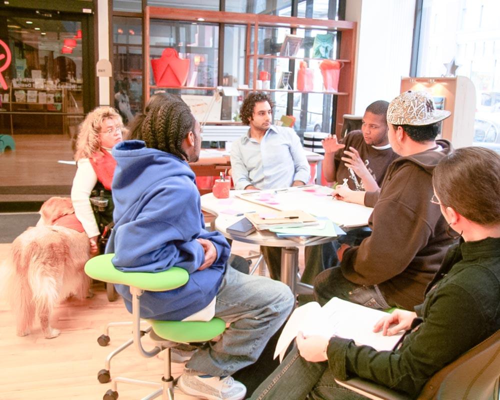 People discussing design