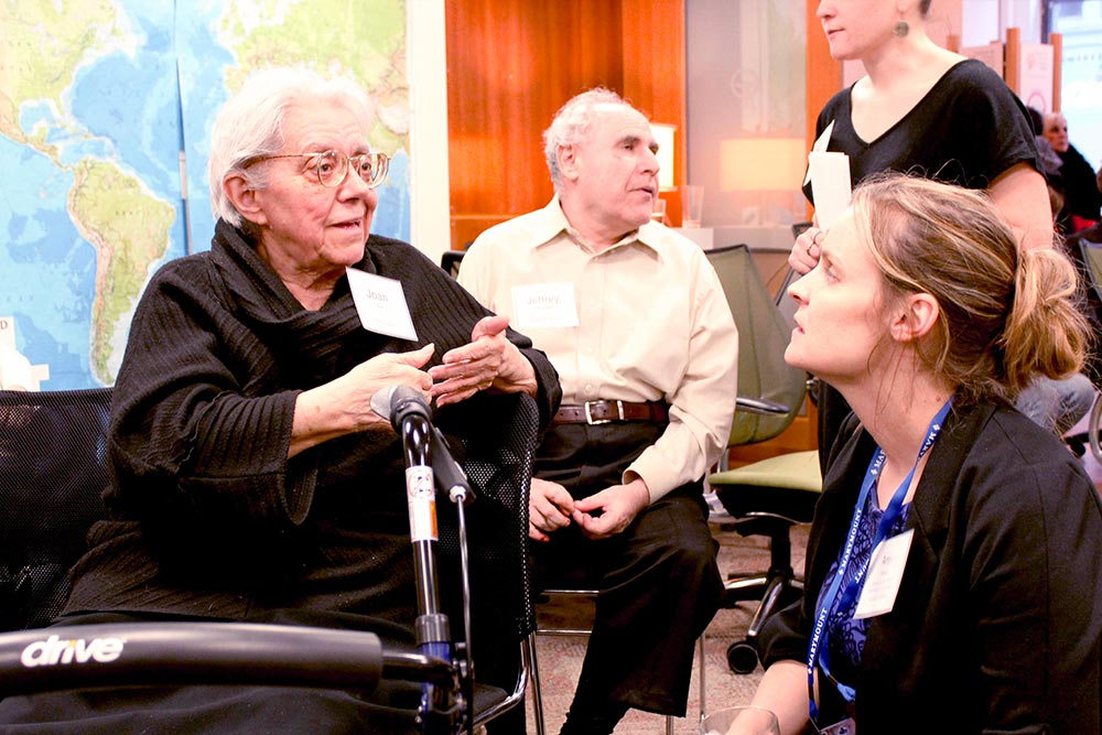 elderly people attending an ada educational lecture