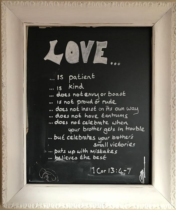 Our Kitchen Chalkboard