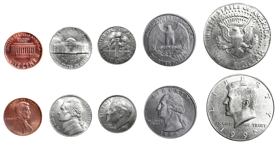 Quarters Dimes Nickels And Pennies - Coffemix
