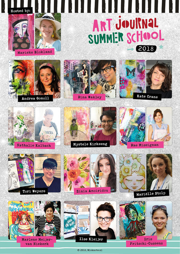 Art Journal Summer School 2018 Teacher Lineup