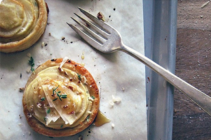 Apple and Goat Cheese Tarts with Thyme and Honey