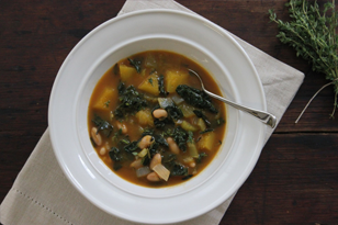 Pumpkin, Kale & White Bean Soup
