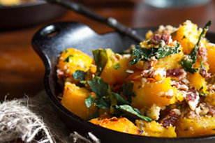 Roasted Butternut Squash with Kale