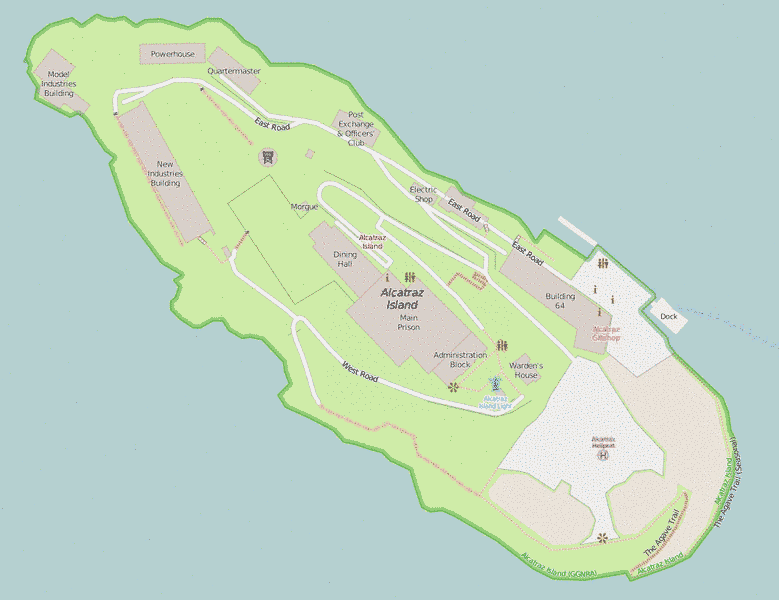 Map of Alcatraz Island