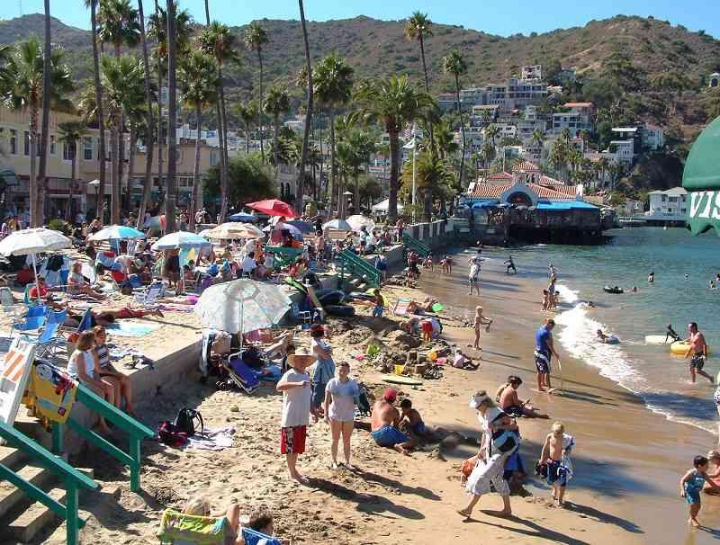 beach in Avalon, Santa Catalina Island