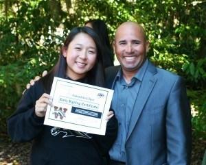 Jasmine Chee and her coach Alex Puchales