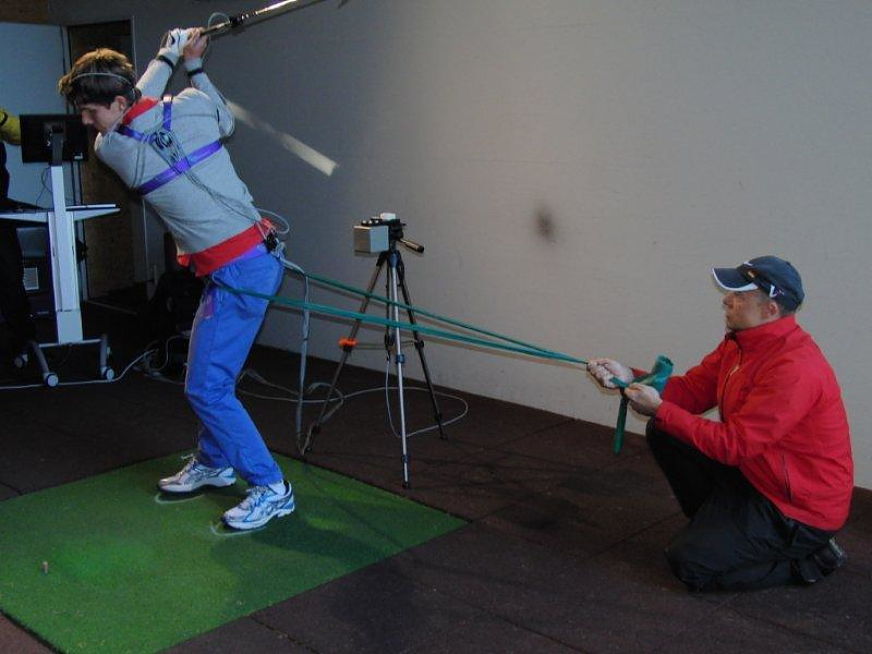 Rob & Mario Hansch works with a young golfer at Wannsee GC in Berlin 2011