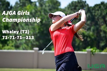 Whaley finishes second at AJGA Girls Championship
