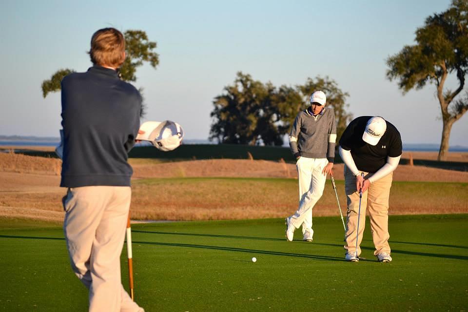 Wren, Diaz & Byrne finishing the playoff hole on No. 18