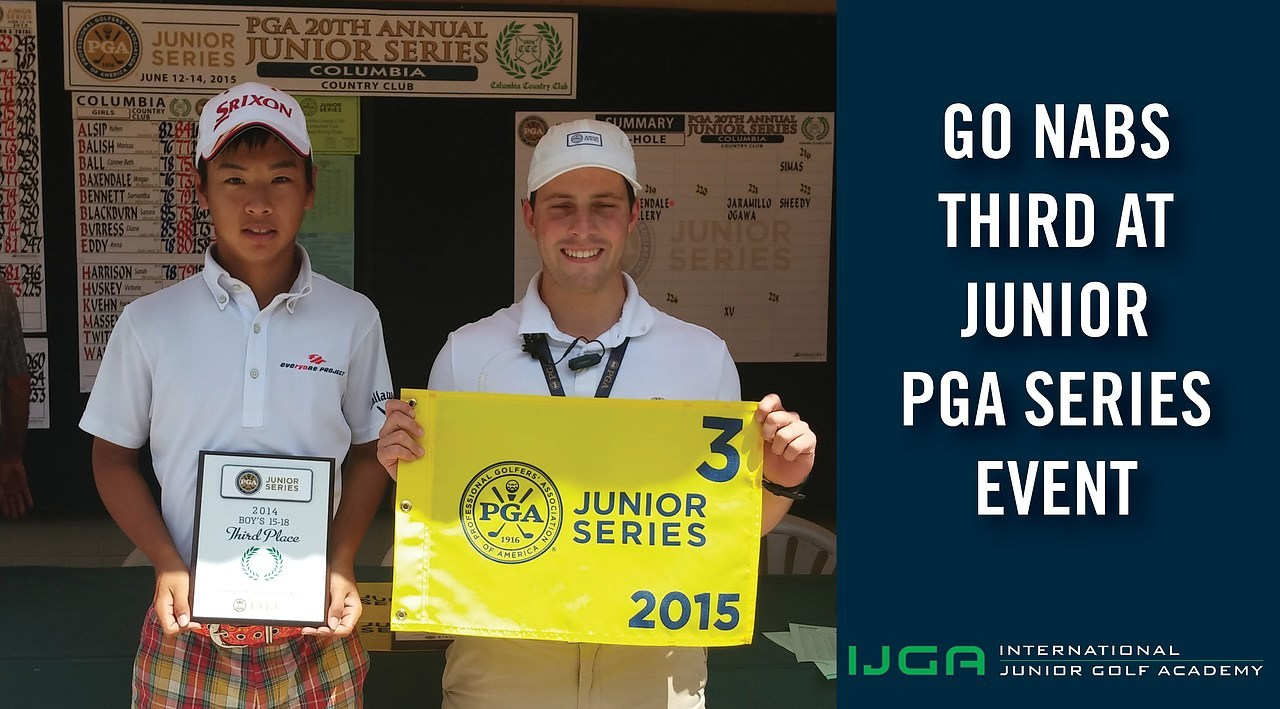 Go nabs third in the 2015 Junior PGA Series event