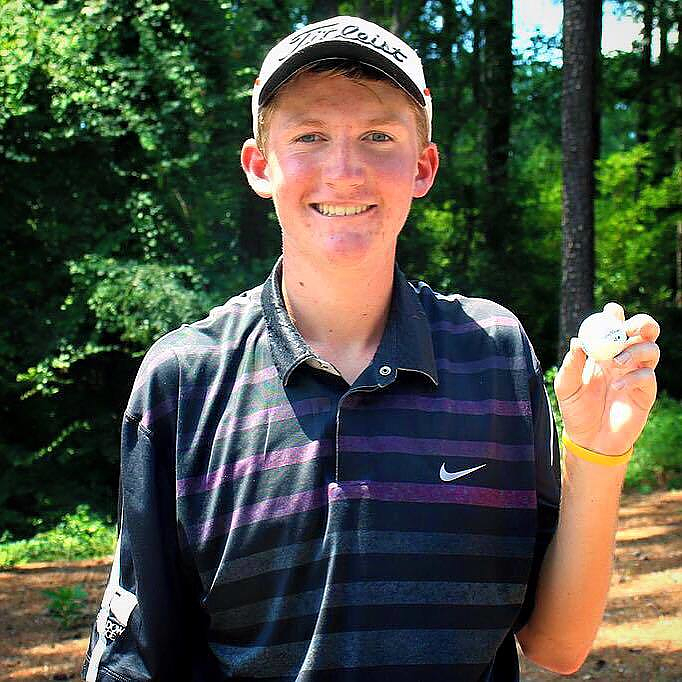 Tanner Cards Hole-in-One During E-Z-GO Championship