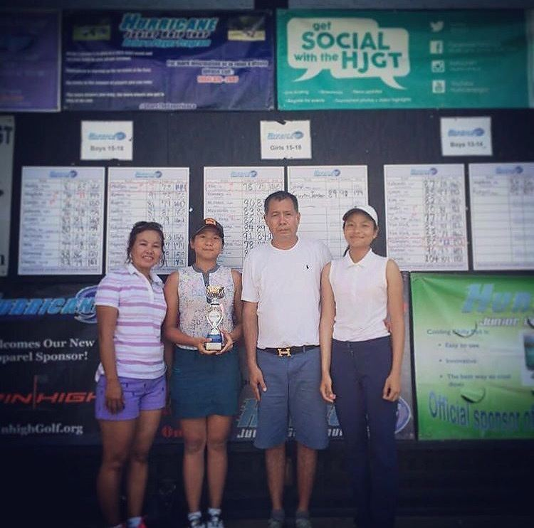 A camper from Myanmar won her first trophy in America with her family there to watch