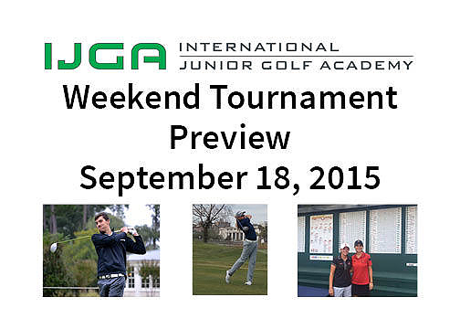 Weekend Tournament Preview – Sept. 18, 2015