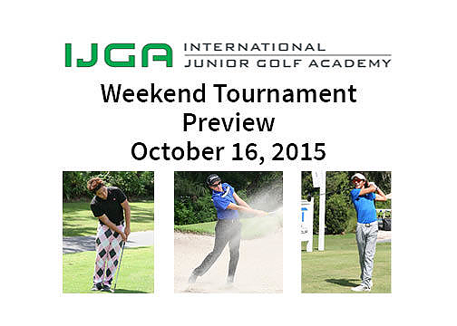 Weekend Tournament Preview – Oct. 16, 2015