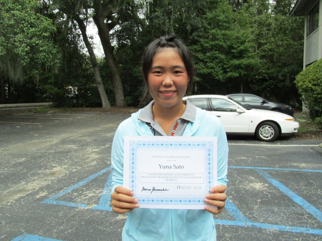 Yuna Sato - Golf Student Accomplishment Week Winner
