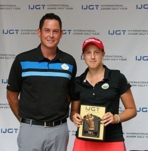 Linda Trockel poses with her trophy