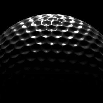 top of golf ball