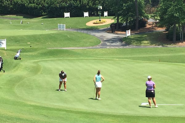 Sera Tadokoro competes at the Callaway Golf Junior Classic