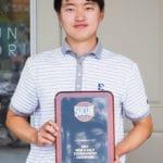 Geuntae Kim with SoCon Trophy