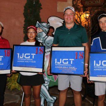 junior golf academy student win