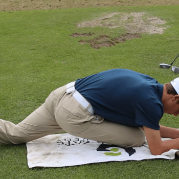 Junior Golf Academy student training