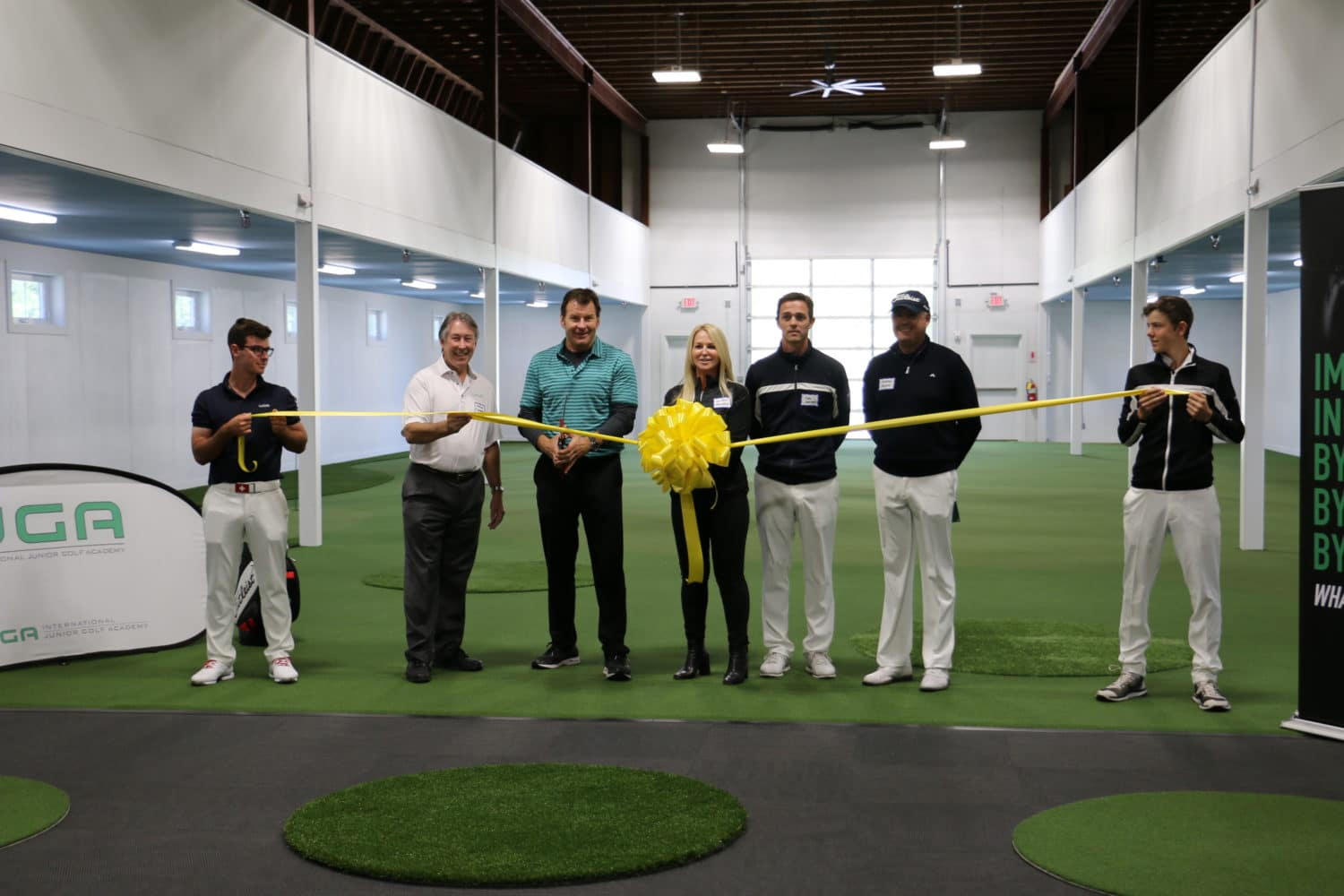 Golf Legend Nick Faldo Presides over IJGA Ribbon-Cutting Ceremony