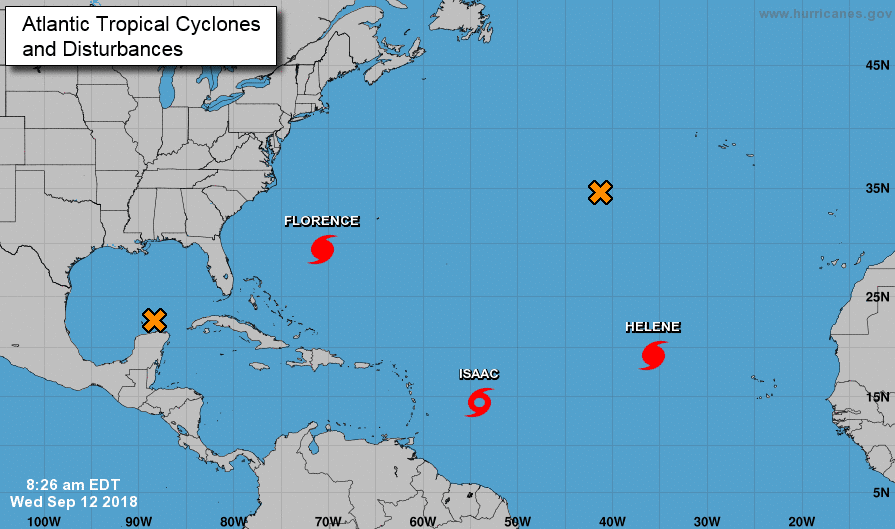 Hurricane Florence Update as of 9/12/18