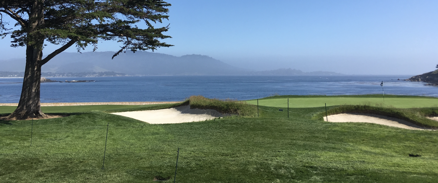 IJGA DIRECTOR OF GOLF JONATHAN YARWOOD GIVES ADVICE ON HITTING THE GREENS AT PEBBLE BEACH DURING THE U.S. OPEN
