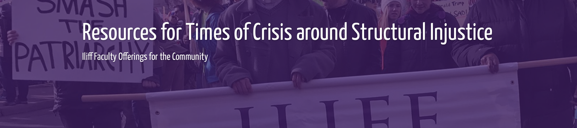 Resources for Times of Crisis around Structural Injustice