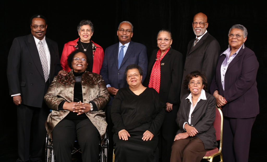 The Little Rock Nine gathered for the 50th anniversary.