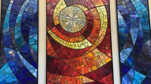 Stained glass from retreat.
