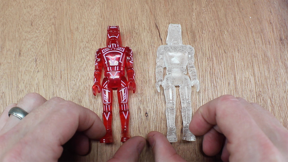 how to make an action figure out of clay