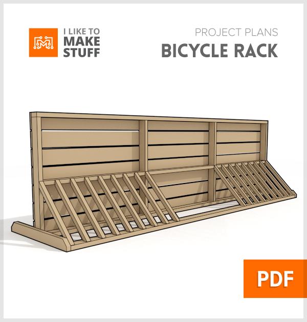how to make wooden bike rack diy plans