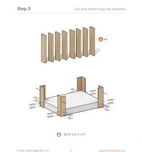 how to make a diy sandbox / raise planter bed plans