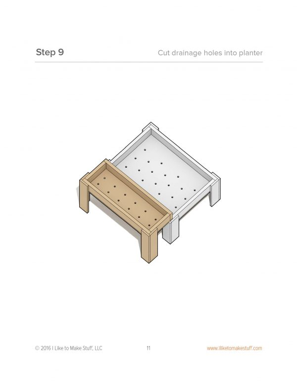 how to make a diy sandbox / raise planter bed plans