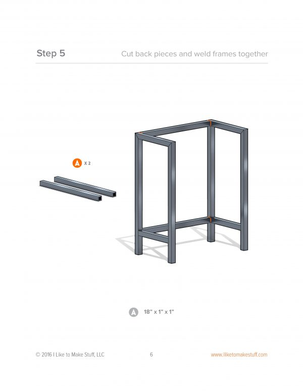 how to make metal night stand bedside table plans