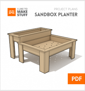 how to make wooden outdoor planter sandbox diy plans