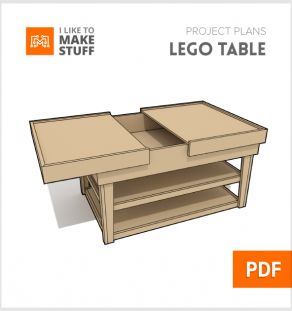 how to make wooden lego table diy plans